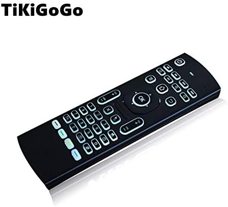 Color: Backlight English Calvas MX3 backlight english Russian Remote control Keyboard mouse fly air mouse with IR learning for X96 H96 Android tv box remote