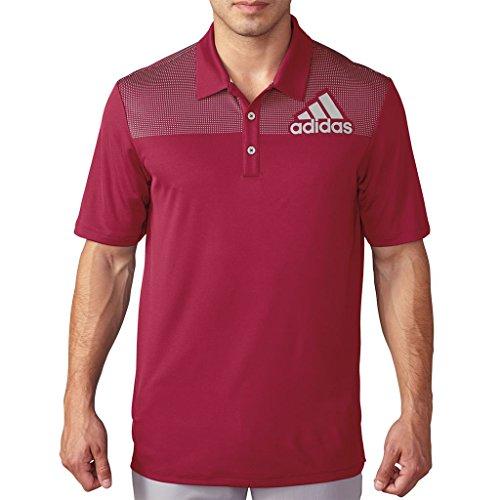 - adidas 2016 Big Logo Dot Print Lightweight Mens Golf Polo Shirt Unity Pink/Stone Small