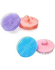 KAYZI Shampoo brush scalp massager, scalp exfoliating brush with soft silicone head, suitable for all hair types