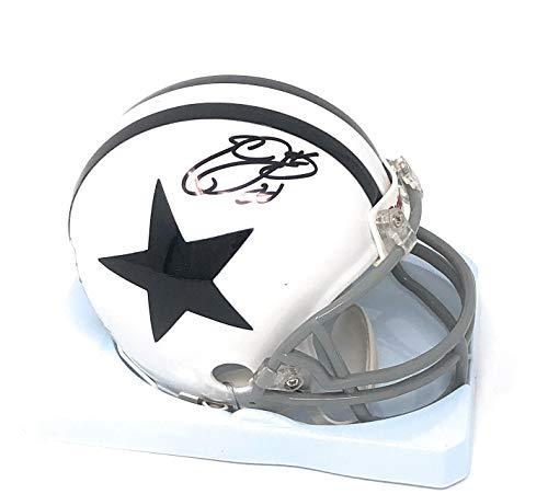 Emmitt Smith Dallas Cowboys - Emmitt Smith Dallas Cowboys Signed Autograph Thanksgiving Day Mini Helmet Smith GTSM Player Hologram