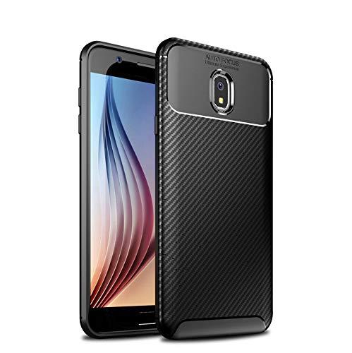 Case for Samsung SM-J737A SM-J737T SM-J737P SM-J737V Galaxy J7 2018 LTE-A (Samsung J737) Soft Case Cover Black