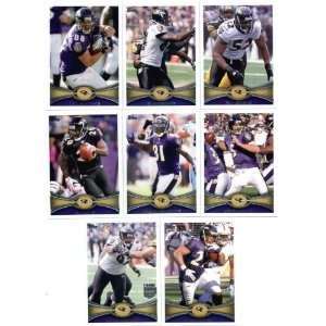 (2012 Topps Baltimore Ravens SUPER BOWL CHAMPIONS Complete Team Set - 17 cards including Flacco, Ray Rice, Ray Lewis, Ed Reed, Ngata, Pierce RC, Upshaw RC, Streeter RC, Osemele, RC and more shipped in an acrylic case)