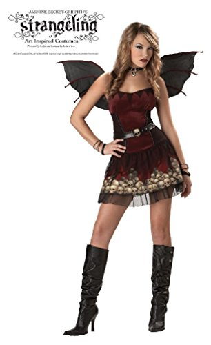 Fancy A Candle in the Dark Jasmine Becket Griffith Gothic Vampire Teen Costume (Little Red Riding Hood Halloween Costume Teenager)
