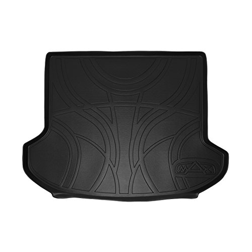 SMARTLINER All Weather Cargo Liner Floor Mat Black for 2011-2015 Kia Sorento with 3rd Row - Row Seat Vehicles Third