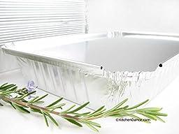 Disposable Aluminum 1 1/2 Lb. Oblong Pan with Board Lid #230L (25)