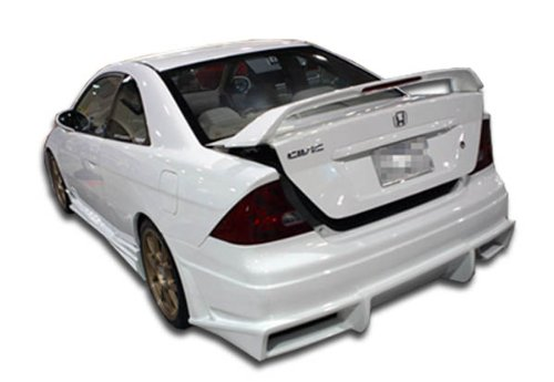 Duraflex ED-QJL-593 Bomber Rear Bumper Cover - 1 Piece Body Kit - Compatible For Honda Civic 2001-2005