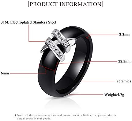Wansan Crystal Ring Double Layer Ring Dressing Accessory Anniversary Birthday Gift for Women Girls
