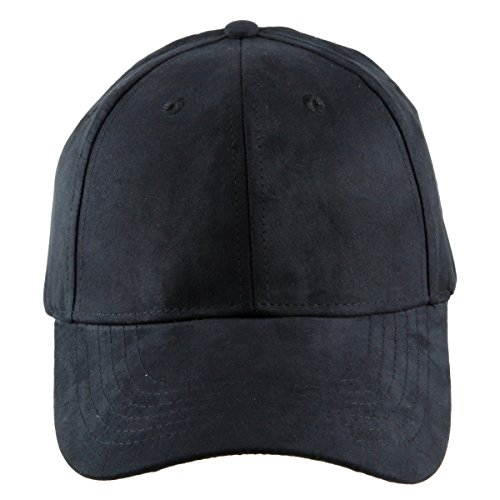 moonsix Unisex Baseball Cap,Adjustable Plain 6 Panel Sun Casual Outdoor Trucker Hat,Black(Suede)