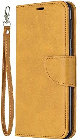 Galaxy M30 ケース, OMATENTI PUレザー手帳型 ケース, 薄型 簡約風 人気 新品 財布 フリップカバー スマホケース, Galaxy M30 用 Case Cover, マグネット開閉式 スタンド機能 カード収納 付き, 黄褐色