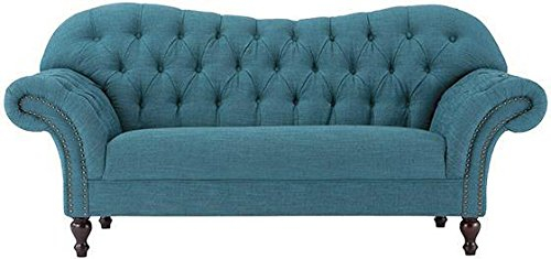 Arden Club Loveseat  34 5 Hx75 W  Peacock