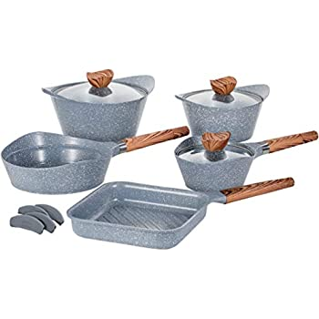 Amazon Com Vremi 8 Piece Ceramic Nonstick Cookware Set