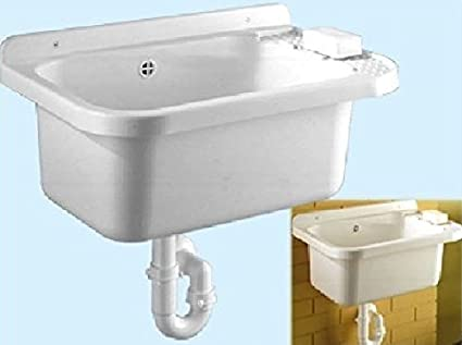 Lavelli Da Giardino Plastica.Lavabo Lavandino Resina Antiurto Esterno Lavatoio Bagno Nuovo Casa Fra 416135