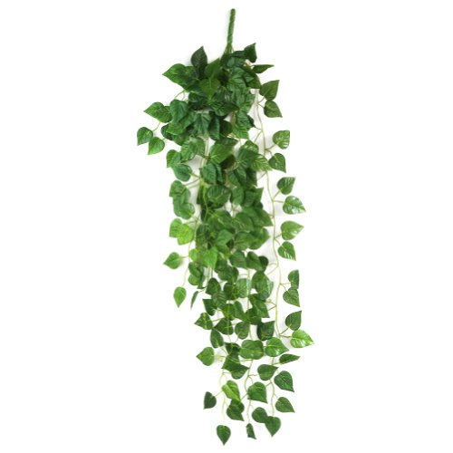 Atificial fake hanging vine plant leaves garland home for Artificial leaves for decoration