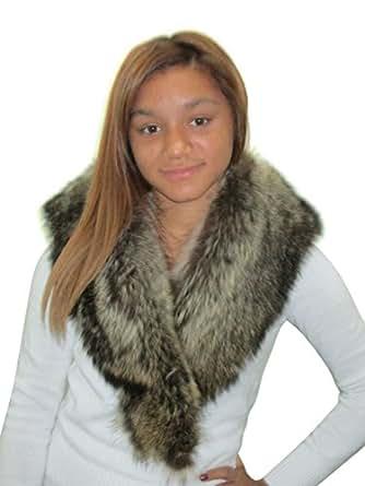 FursNewYork USA Raccoon Fur Clip Collar