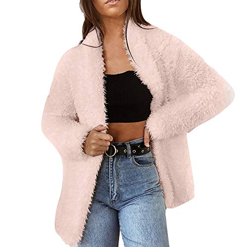 - ICECREAM Women's Fashion Winter Warm Coat Solid Color Long Sleeve Cardigan Wool