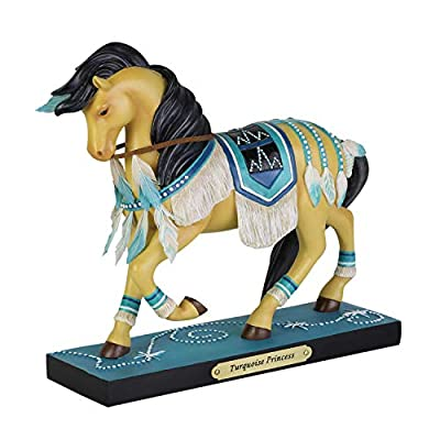 "Enesco Trail of Painted Ponies Turquoise Princess Figurine 7"" Multicolor"