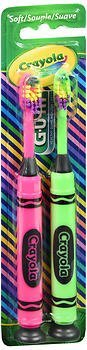 GUM Crayola Toothbrushes Soft - 2 ct, Pack of 5 by GUM