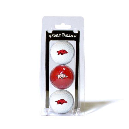 NCAA Arkansas  3-Pack Team Golf Balls