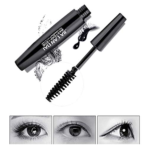 NOGOQU Natural Lash Black Mascara Simple Removal Longer Thicker Voluminous Eyelashes Effortlessly Waterproof Lasts All Day ()