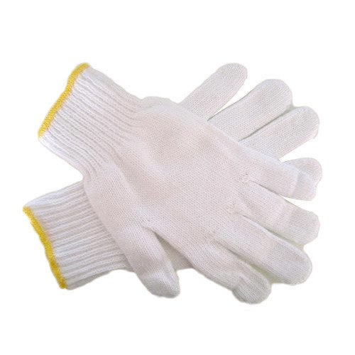 Safety Grip Protection Knit Cotton Gloves for light to medium duty work White-One size large (20) by Safety Grip Protection