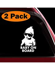 TOTOMO Baby on Board Sticker Funny Cute Cool Safety Caution Decal Sign for Car Windows and Bumpers