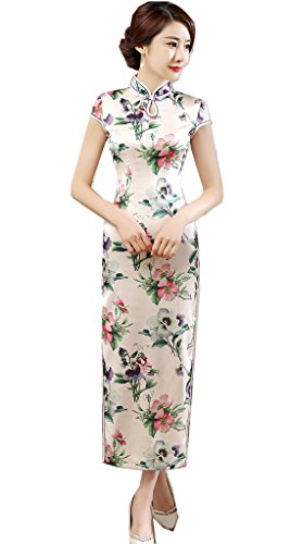 Shanghai Story Women's Cheongsam Dress Keyhole Long Chinese Qipao Dress 6 55 by Shanghai Story