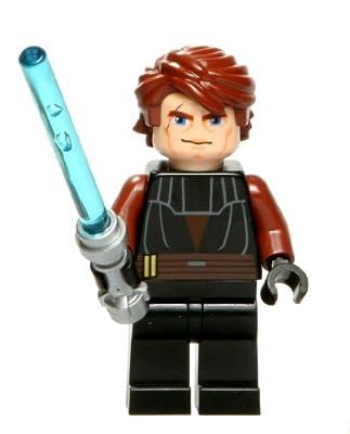 LEGO 7931 Star Wars Clone Wars Anakin Skywalker Minifig Minifigure w/ Lightsaber