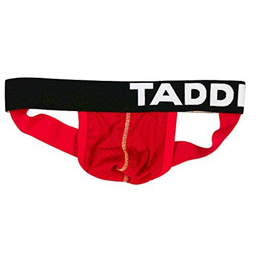 - Taddlee Jocks Men Underwear Sexy Jockstraps Briefs Bikini Gay Cotton Backless (M, Red)