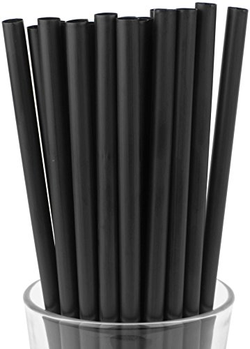 Made in USA Pack of 100 Black Jumbo Plastic Smoothie (10