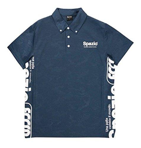 最終合わせて絶縁する◎SPAZIO(スパッツィオ) カモフラエンボスポロシャツ フットサル TP0506-21