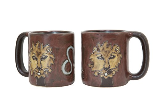 (One (1) MARA STONEWARE COLLECTION - 16 Oz Coffee Cup Collectible Dinner Mug - Zodiac Sign - Leo The Lion Design)