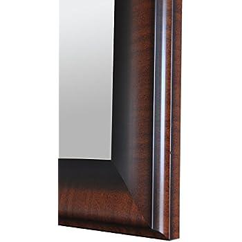 Merveilleux Raphael Rozen   Modern   Hanging Framed Wall Mounted Mirror, Dark Cherry