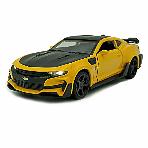 LMOY Pull Back Diecast Vehicles Toys ,Fast & Furious Chevrolet Camaro 1/32 Scale Car Collection Model with Light and Sound for 3 4 5 6 Years Old Boys and Girls (Yellow)