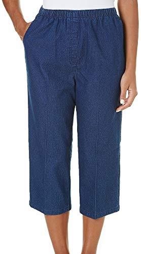 Alia Denim Jeans - Alia Petite Denim Pull On Capris 12P Indigo blue