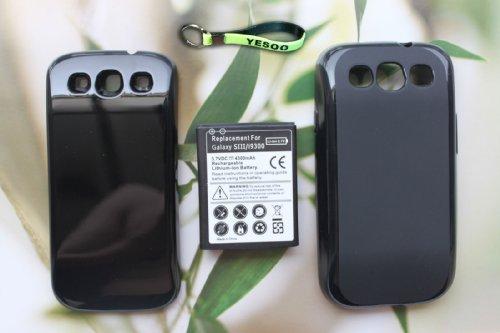 4300mAh Extended Battery Black Cover