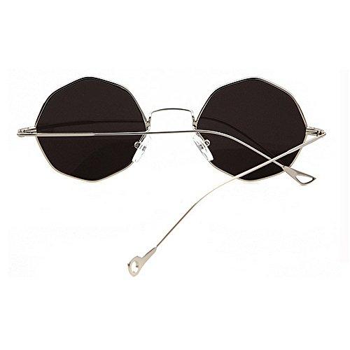 conducir del Proteccion de de Tonos del mujeres lleno rayos las los del moda vacaciones playa sol metal de protección las de de Exquisita contra la las ojo Plata polígono verano ultravioleta gafas de para BqdwfqO
