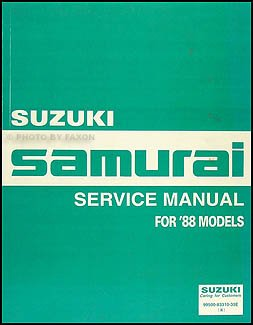 1988 suzuki samurai repair shop manual original amazon com books rh amazon com suzuki samurai maintenance manual suzuki samurai owners manual
