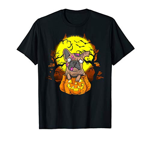 Jack The Bulldog Halloween (Halloween French Bulldog Zombie Jack O Lantern Dog Top Gifts)