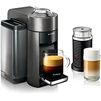 De'Longhi Nespresso Vertuo Coffee and Espresso Maker with Aeroccino Milk Frother (Graphite Metal)
