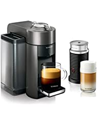 Nespresso Vertuo Evoluo Coffee and Espresso Machine with Aeroccino by DeLonghi, Graphite Metal