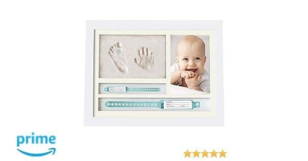 MUBY, Kit de marco de huellas de mano y pie de bebé y PUERTA PULSERAS DE NACIMENTO - Regalos Originales Para El Recién Nacido Para Niño Y Niña ...