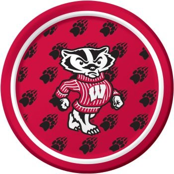 (Creative Converting Wisconsin Badgers 7-Inch Paper Plates 8 Per Pack)