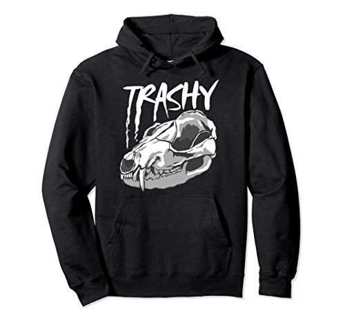 Trashy Halloween Outfits (Trashy Opossum Skull Hoodie Marsupial Animal Lovers)