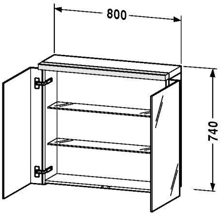 Glass Cabinet Duravit (Mirror cabinet 31 1/2