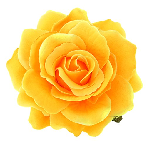 Frcolor Artificial Big Rose Flower Hairpin Hair Clips Flower