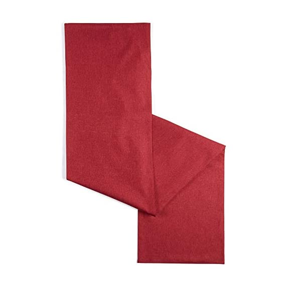 """Town & Country Living Somers Table Runner 15""""x72"""" Rectangle, Stain Resistant Machine Washable Polyester, Solid Red -  - table-runners, kitchen-dining-room-table-linens, kitchen-dining-room - 411zzi6PEBL. SS570  -"""