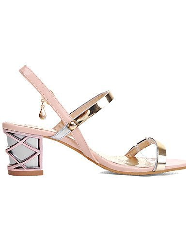 Gladiator Shoes Stiletto Black Leatherette Dress Blue Heel Pink Sandals ShangYi Career Pink Office amp; Women's pHx4Wg