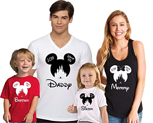 Matching Disney Shirts For Family (Family Trip Disney Vacation Matching Shirts with custom)