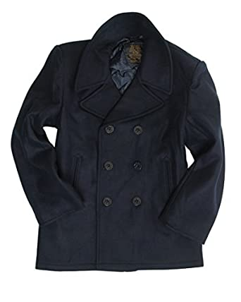 Dark Blue US Navy Pea Coat at Amazon Men's Clothing store: