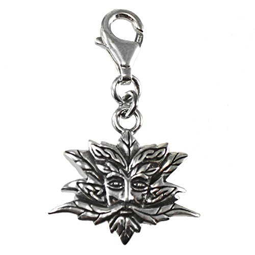 Sterling Silver Clip On Green Man Charm ()